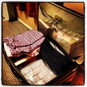 My luggage - ALMOST packed
