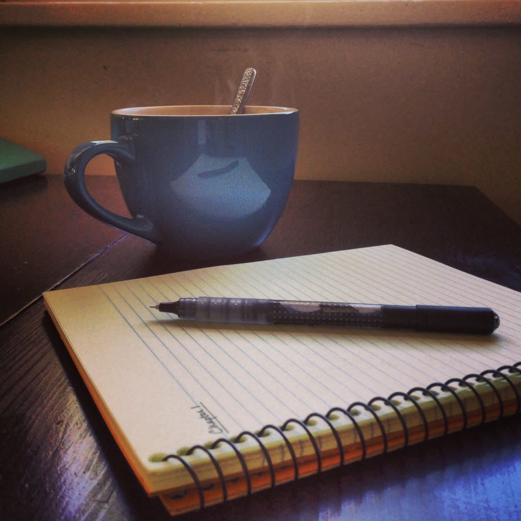 So, this is the pic I took when I started Book 4 this fall (a momentous occasion that clearly required coffee). Don't worry--I've written more since then...but not ENOUGH.