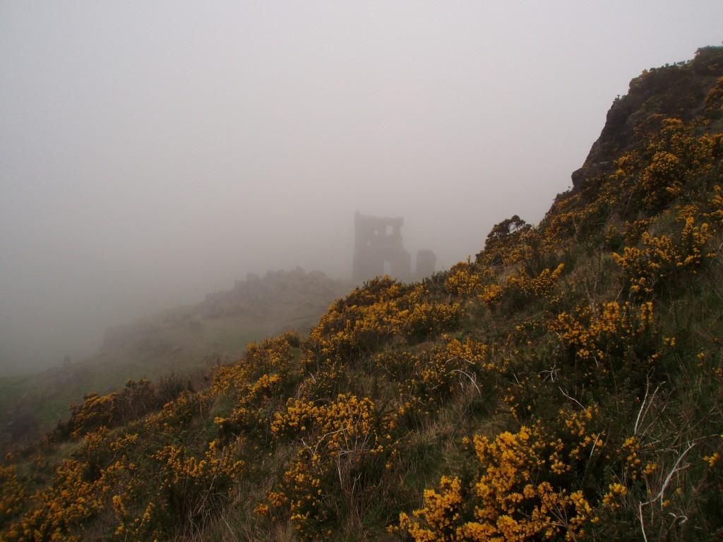 Lost in Holyrood Park's Fog, Edinburgh, Scotland, U.K.