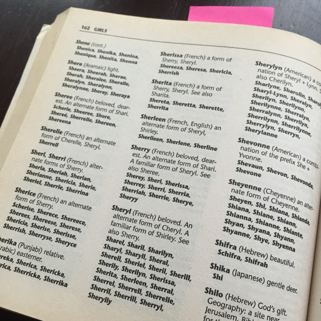 Baby Name Book - Interior