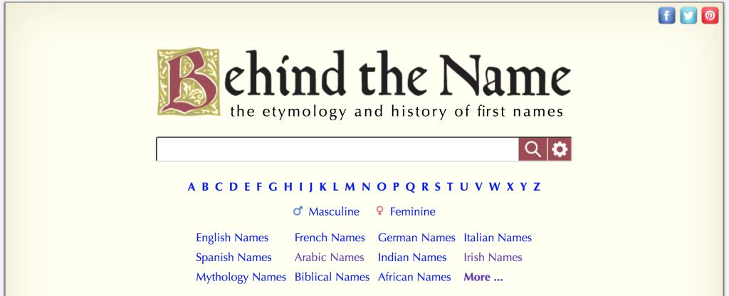 Behind the Name Screenshot